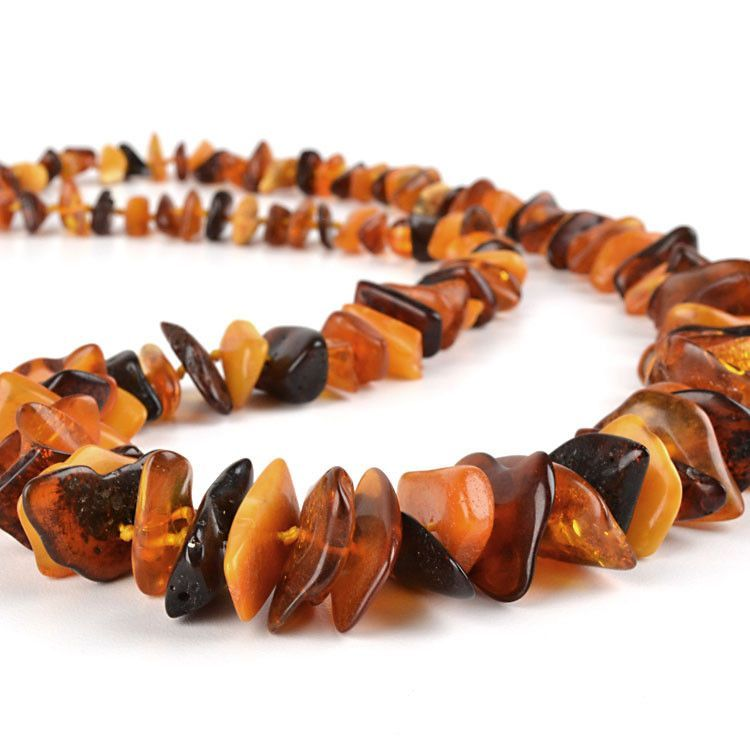 Chips of Natural Amber Necklace
