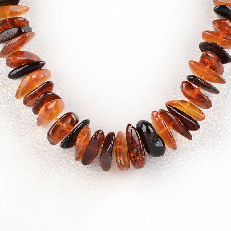 Russian Amber Pebbles Necklace