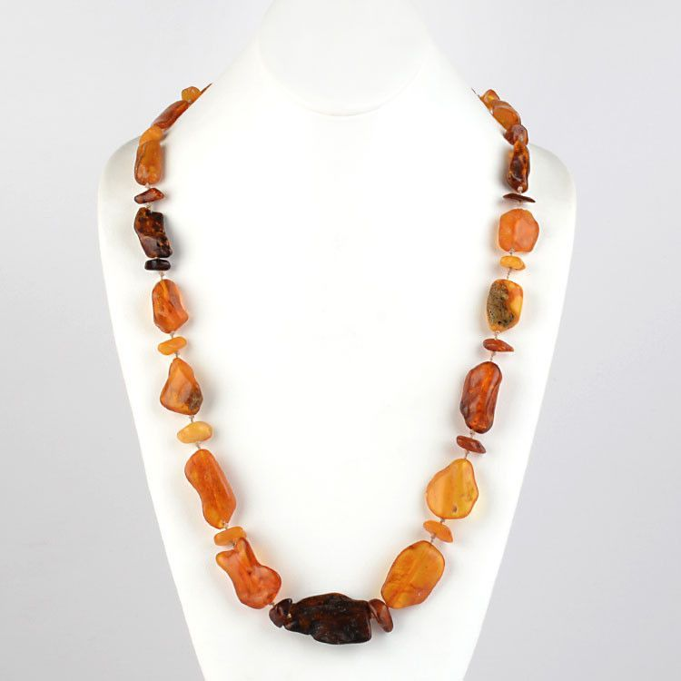 Pure Amber Chunks Necklace