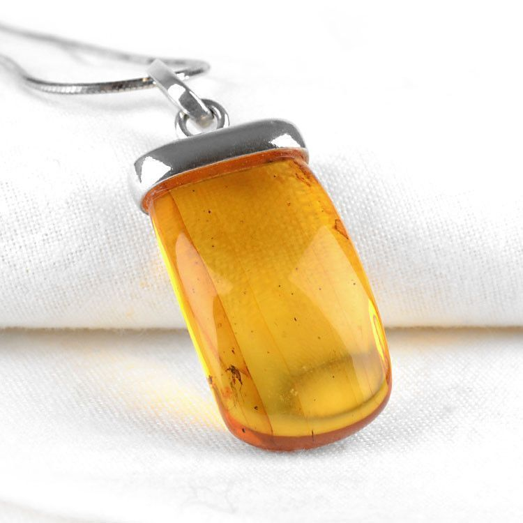 Real Amber Pendant with Insect