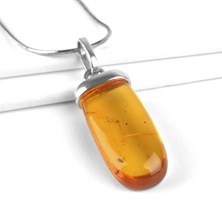 Amber with Insects Pendant