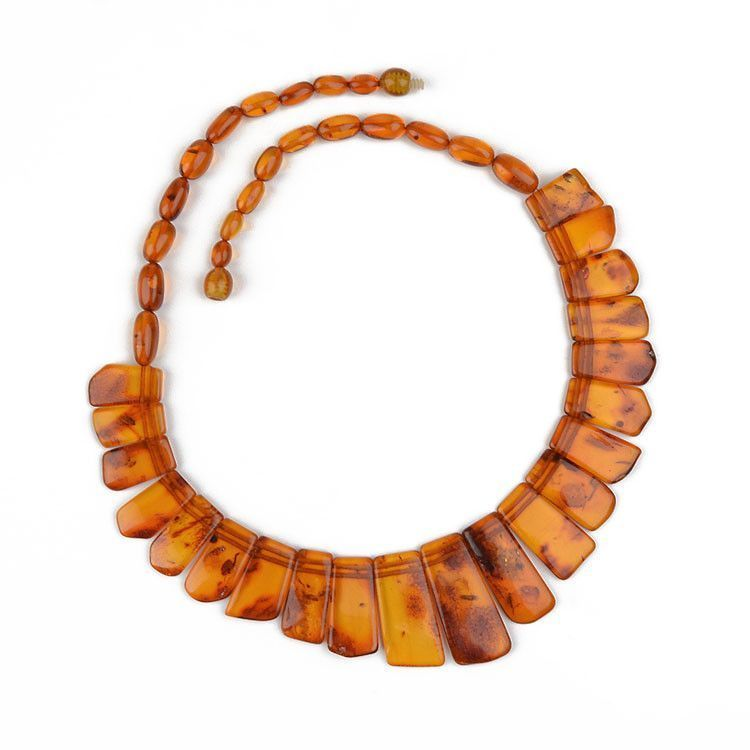 Honey Amber Collar Necklace