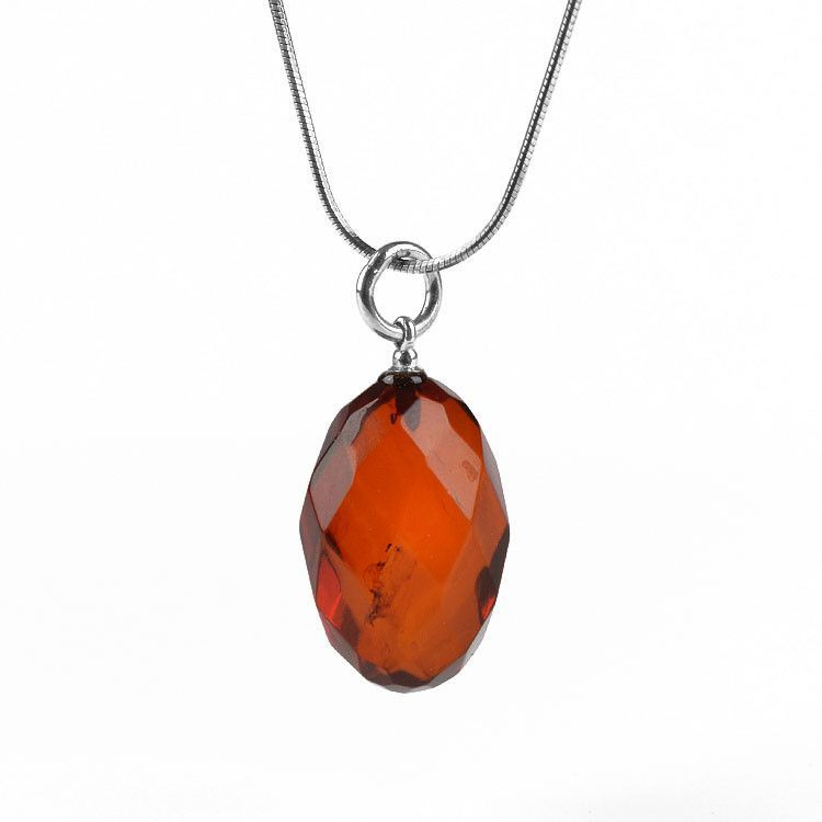 Faceted Amber Pendant