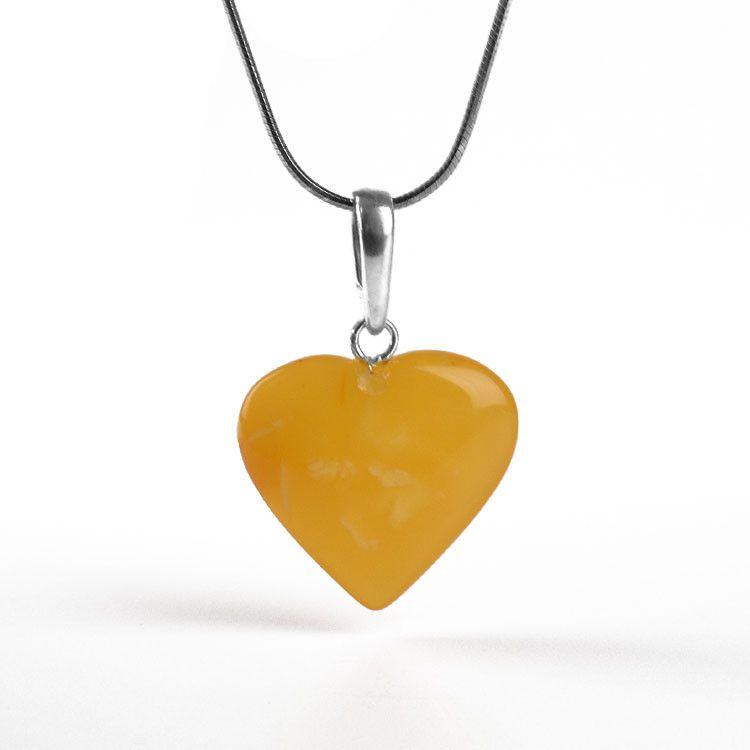 Butterscotch Heart Pendant