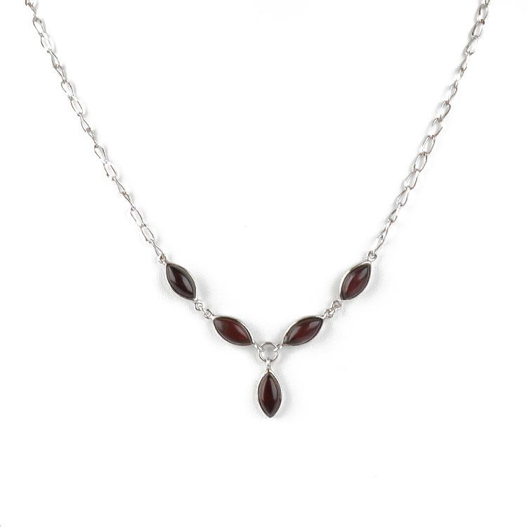 Cherry Amber Slivers Necklace