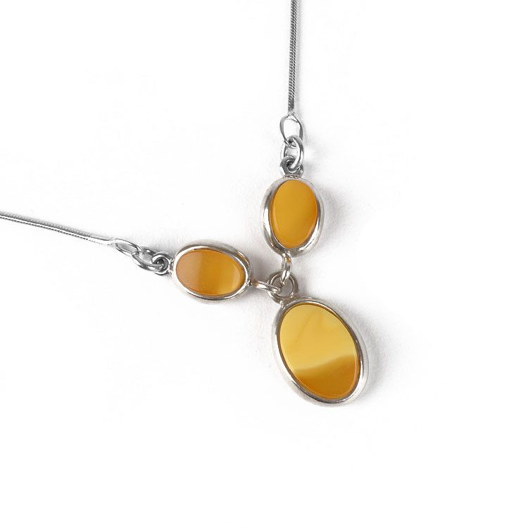 Gradiant Butterscotch Amber Necklace