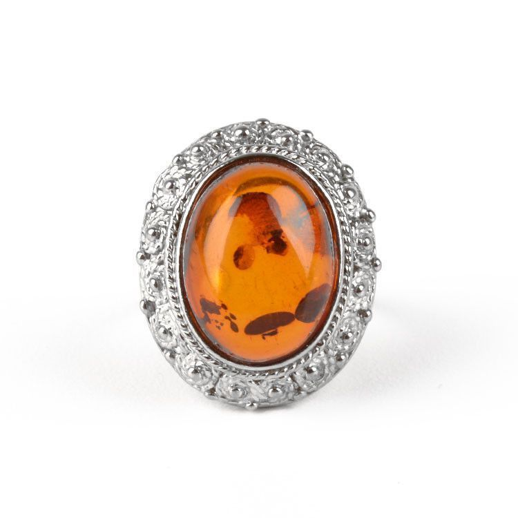 Grandiose Amber Cocktail Ring