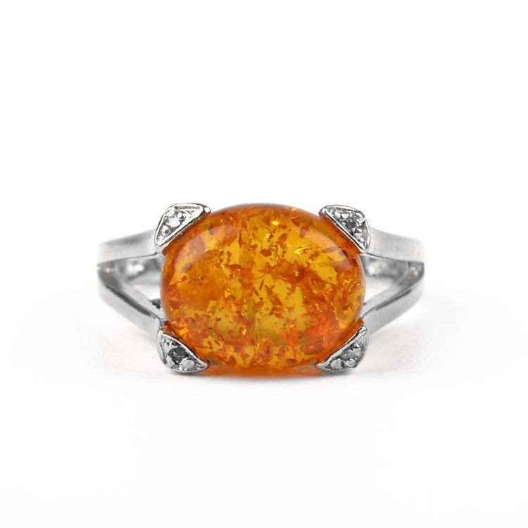 High Crown Amber Setting Ring