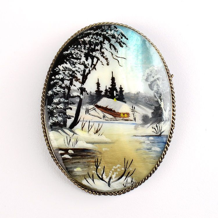 Winter Village Pin