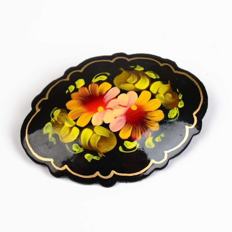 Hand Painted Wooden Pin