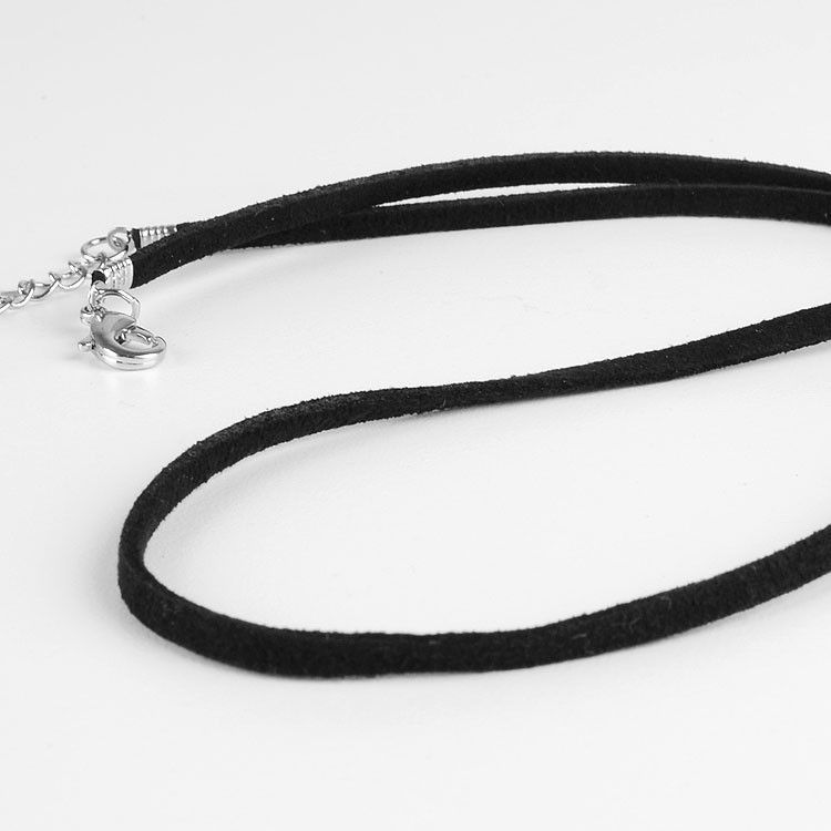 Unisex Black Suede Cord for Pendant