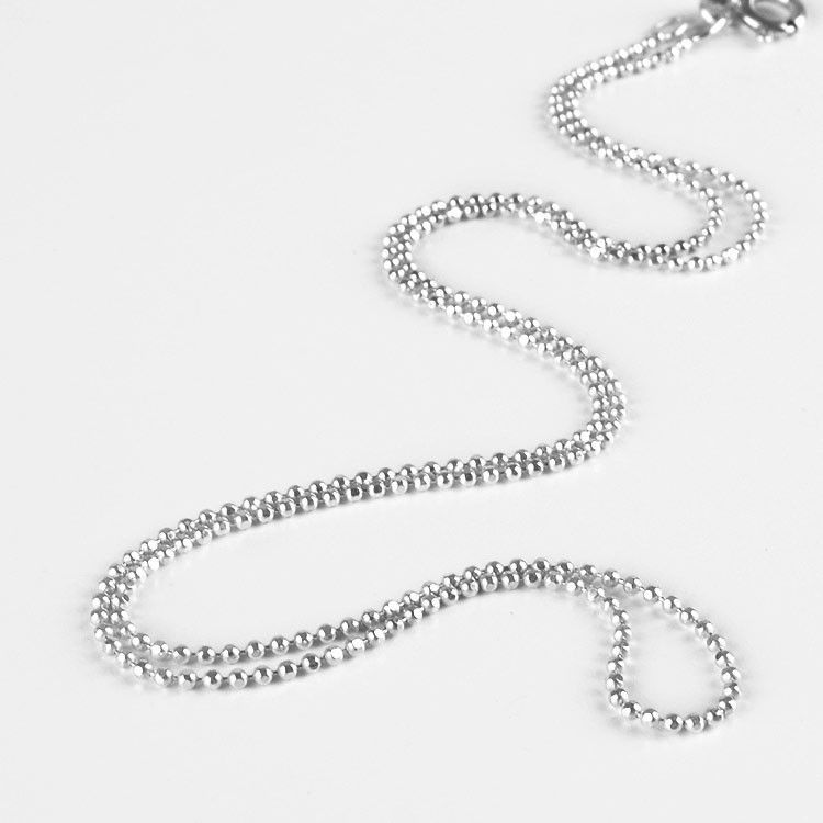 Diamond Cut Bead Sterling Silver Chain