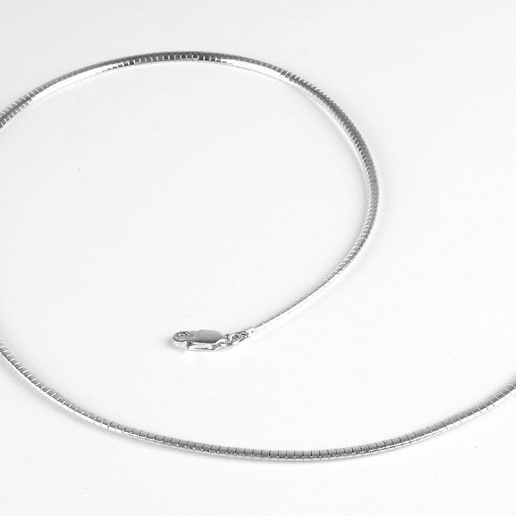 3mm Sterling Silver Omega Chain