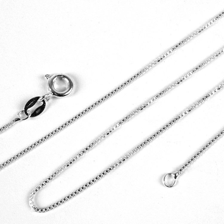 Thin Silver Box Style Chain - 0.8mm