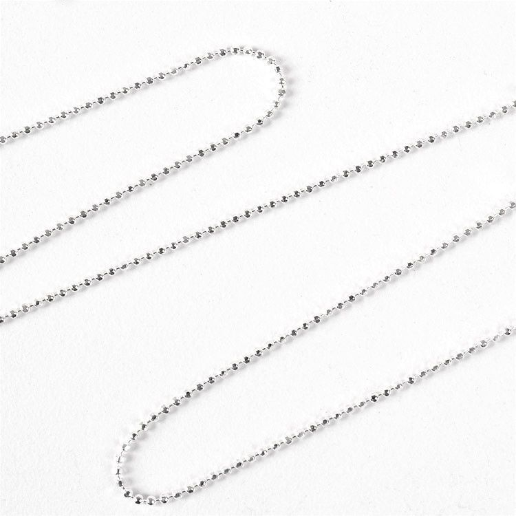 Dainty Sparkly Diamond Cut Beads Chain