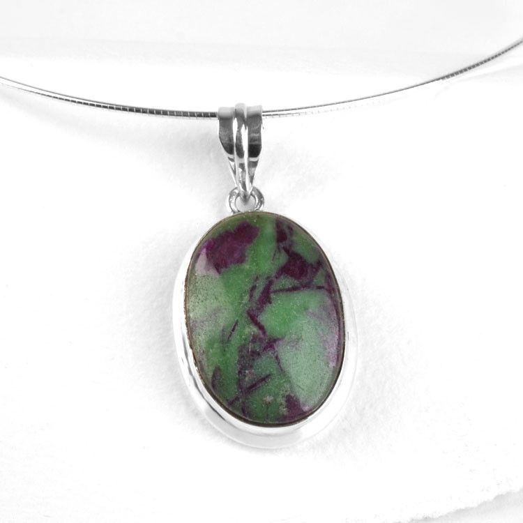 Ruby Zoisite Gemstone Necklace