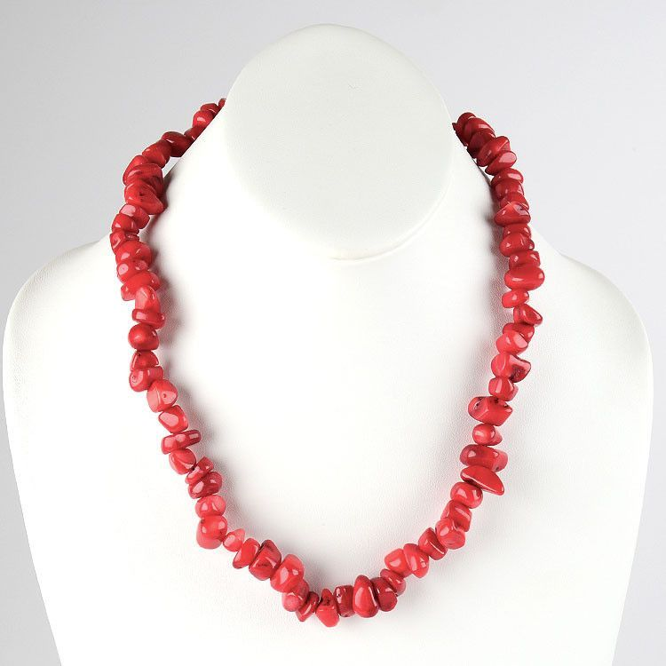 Coral Nuggets Necklace
