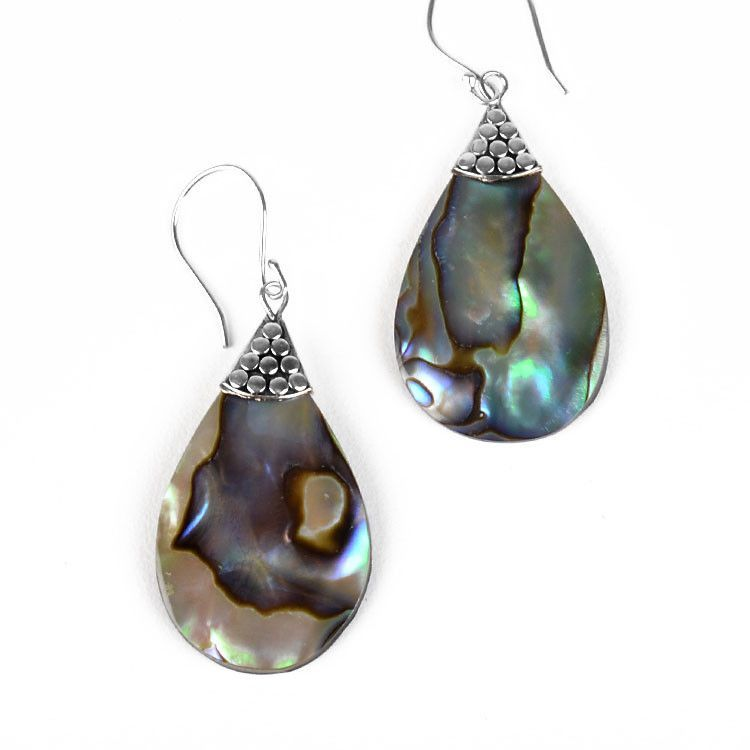 Iridescent Abalone Shell Earrings