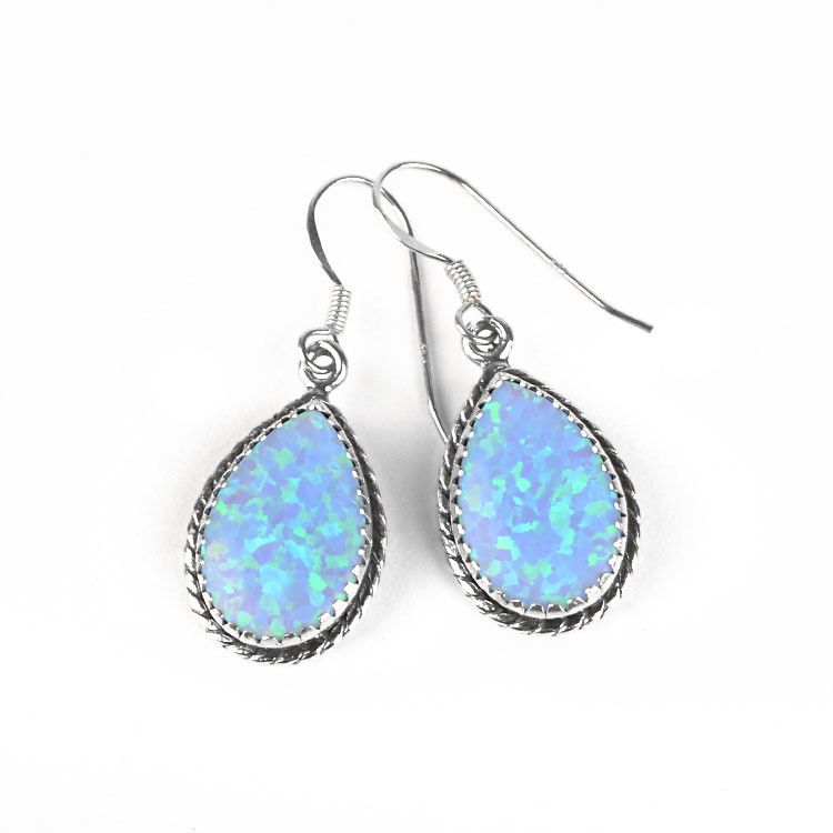 Pretty Opal Drop Earrings