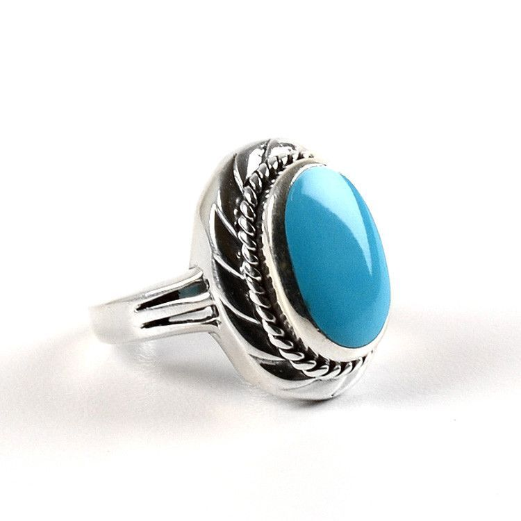 The Turquoise Oval in Sterling Silver Ring