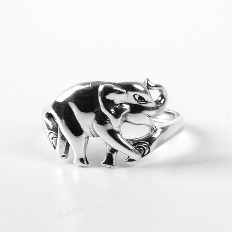 Lucky Elephant Ring - Sterling Silver