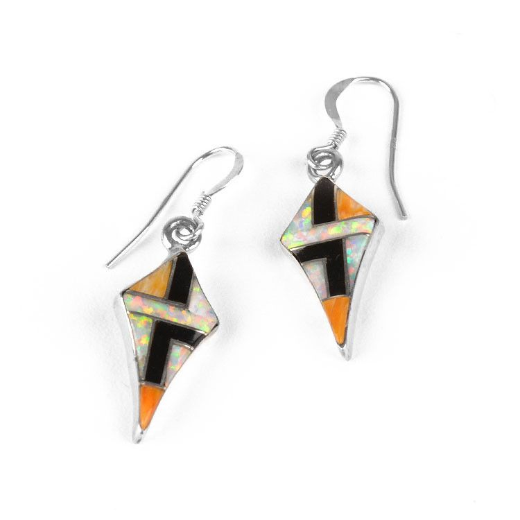 Colorful Kite-Shaped Earrings