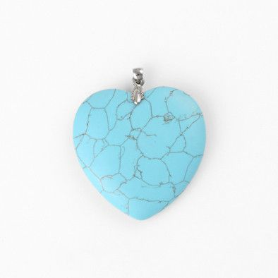 Large Synthetic Turquoise Heart