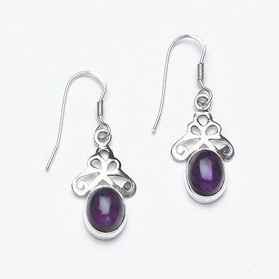 Dark Amethyst Earrings