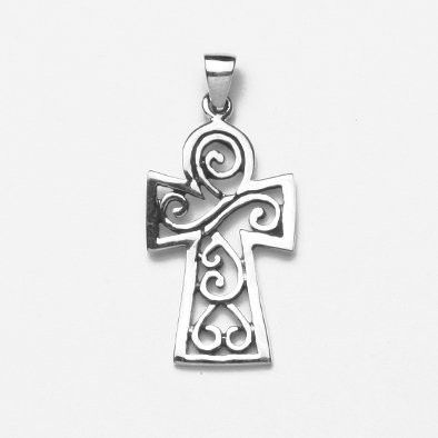 Celtic Sterling Silver Cross Pendant