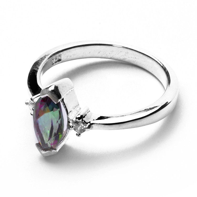 Sterling Silver Ring with Mystic Topaz