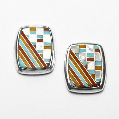 Southwestern Inlay Earrings