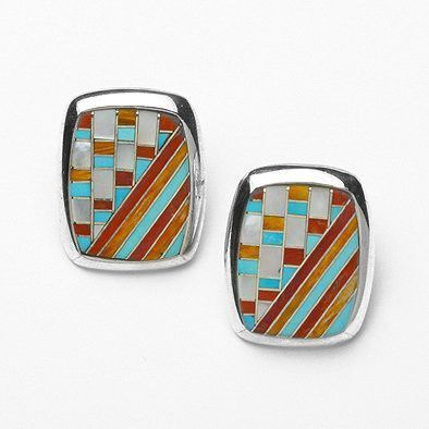 Southwestern Themed Turquoise Earrings