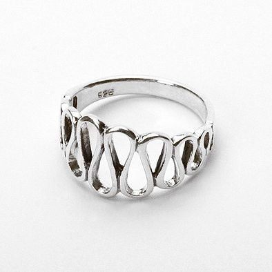 Waves of Sterling Silver Ring