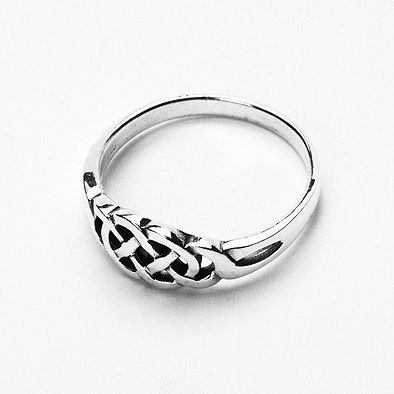 Classic Celtic Silver Ring