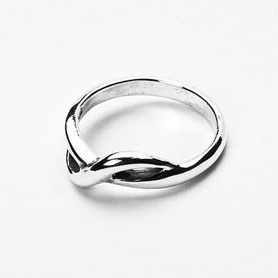 Entwined Sterling Silver Ring