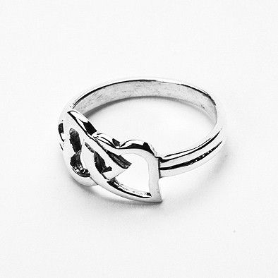 Connected Hearts Sterling Silver Ring