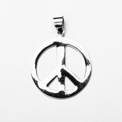 Classic Peace Sign Silver Pendant