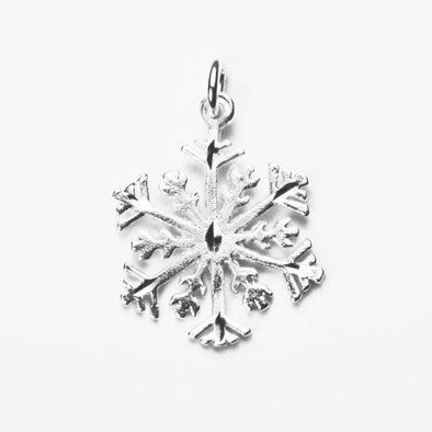 Frosty Snowflake Sterling Silver Pendant