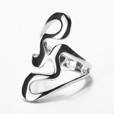 Sterling Silver Retro Ring