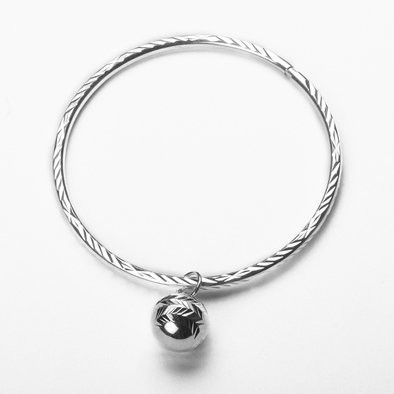 Charming Sterling Silver Bangle