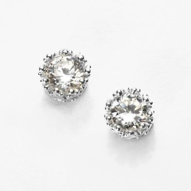 Studded Earrings with Crystals