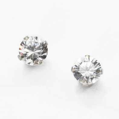 Silver and Crystal Studded Earrings