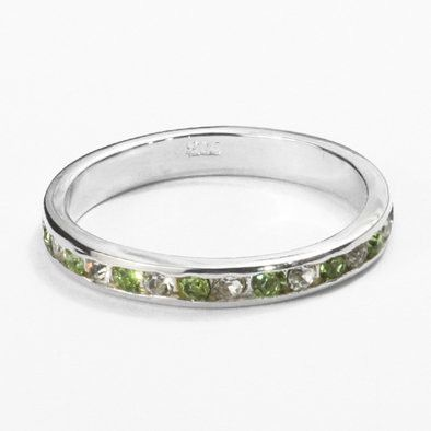 Stackable Peridot Gemstone Band Ring