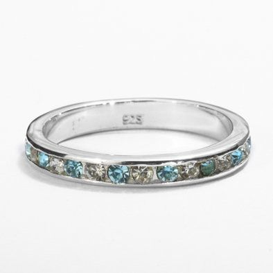 Stackable Blue Topaz Eternity Band Ring
