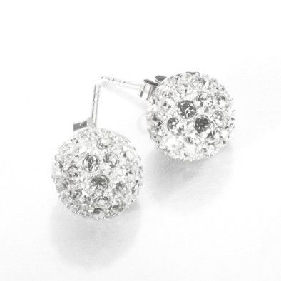 Dazzling Disco Ball Crystal Stud Earrings
