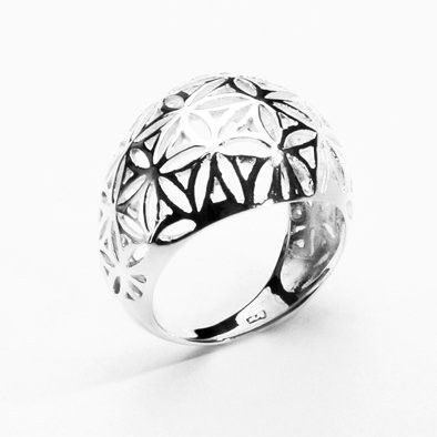 .925 Silver Dome Ring