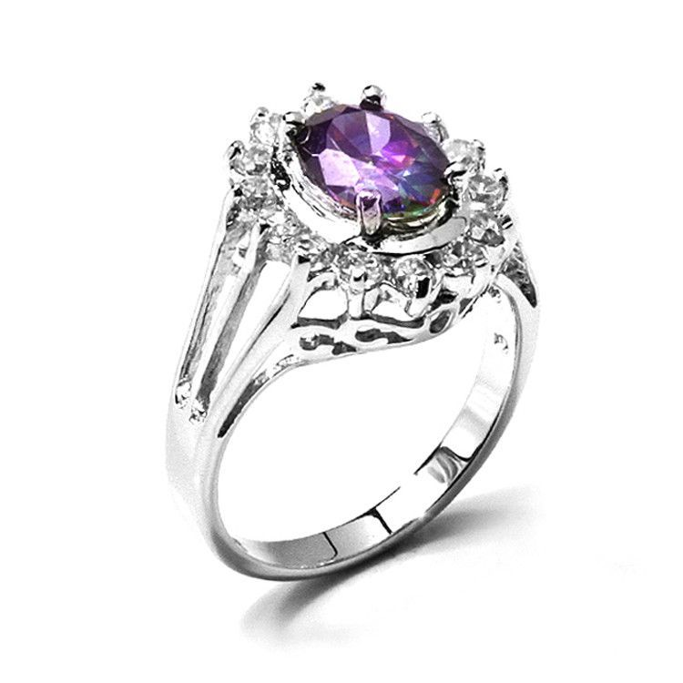 Victorian Style Mystic Topaz Ring