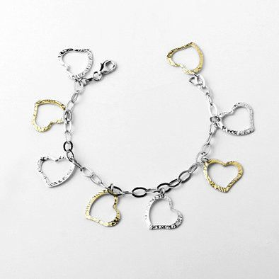 Eight Hearts Charm Bracelet