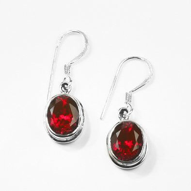 Created Ruby Hook Earrings