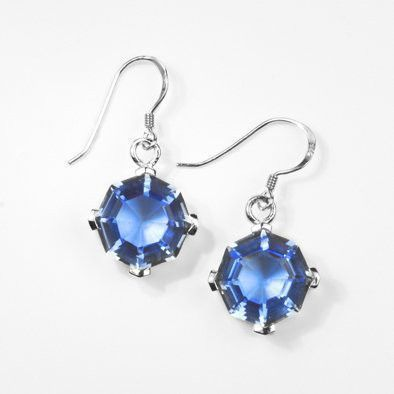 Blue Quartz Hook Earrings